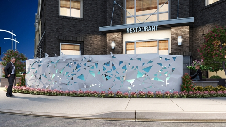 Artists' rendering ofWarbler Migration Sculpture