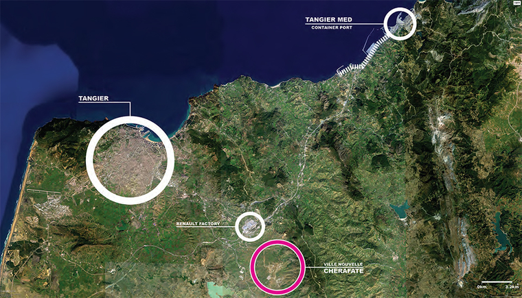 Regional context of proposed New Town Cherafate, Morocco