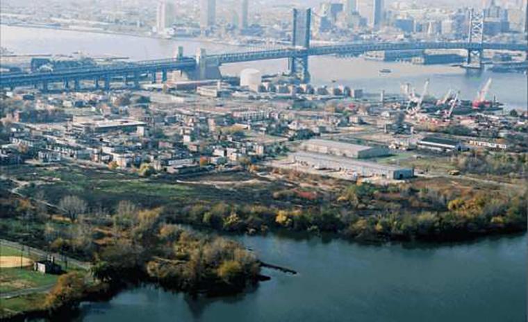 Waterfront area in Camden NJ