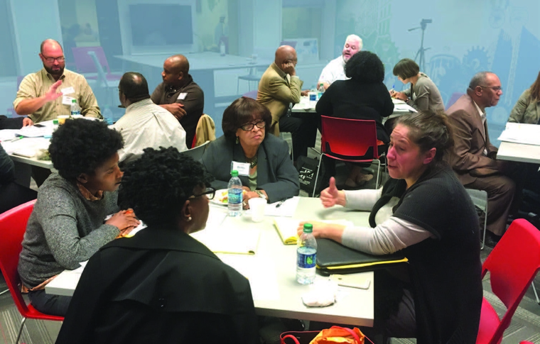 Community conversations at the Citizens Planning Institute, a partner in this project