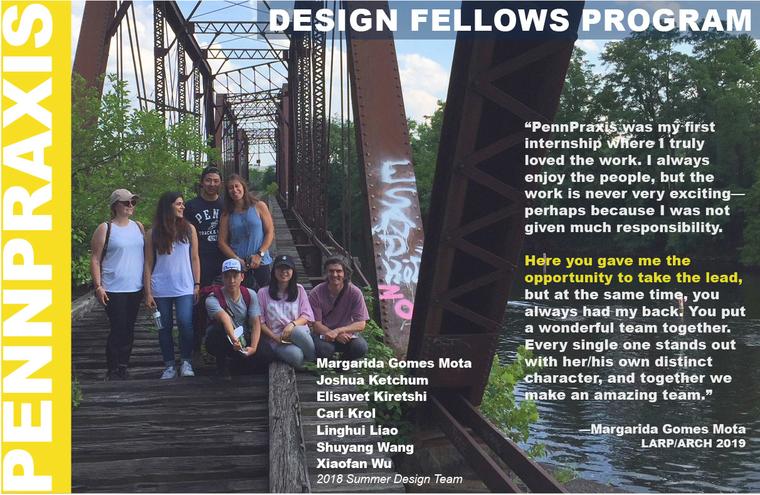 Poster for Penn Praxis Design Fellows Program