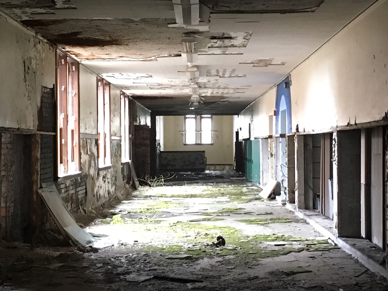One of the sites under investigation in Detroit