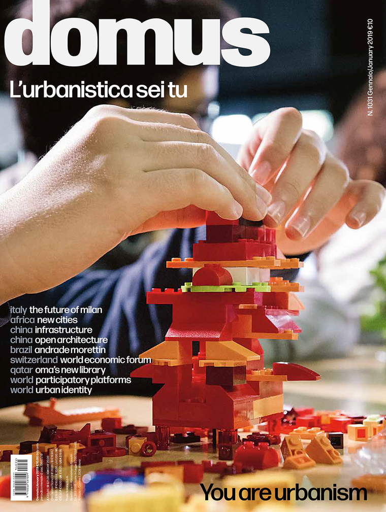 """Cover of Domus. Edition title """"You are urbanism"""""""