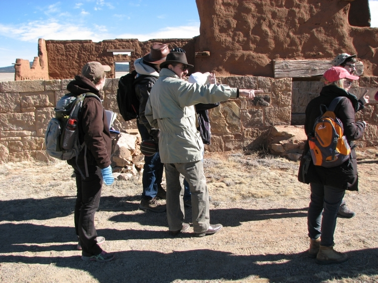 Professor Matero in the field with students at Fort Union National Monument.