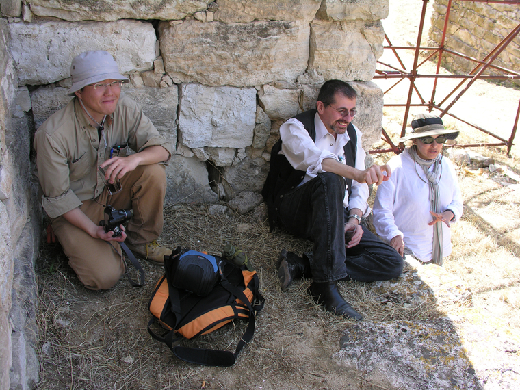 Frank Matero (center) with researchers at the Gordion Archaeological Project in Yassihoyuk, Turkey.