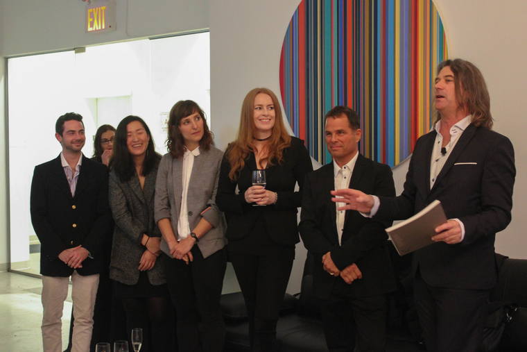 LA+ production team giving presentation