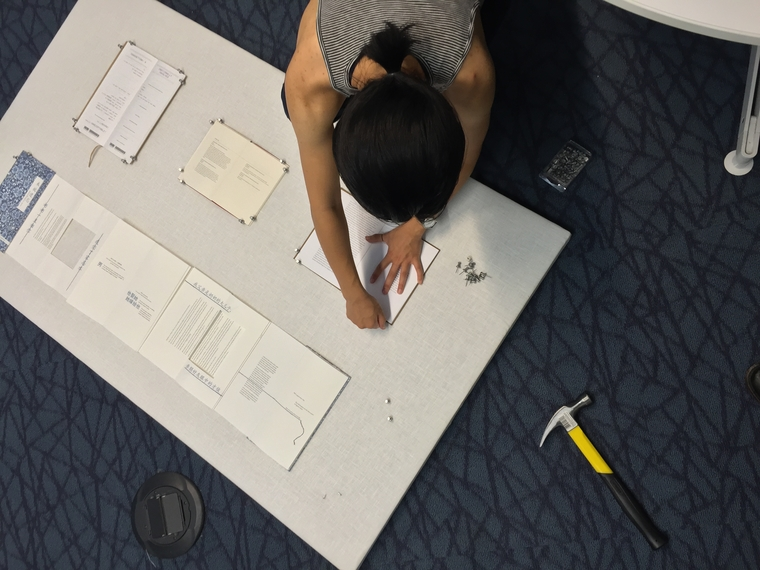 Student working on project