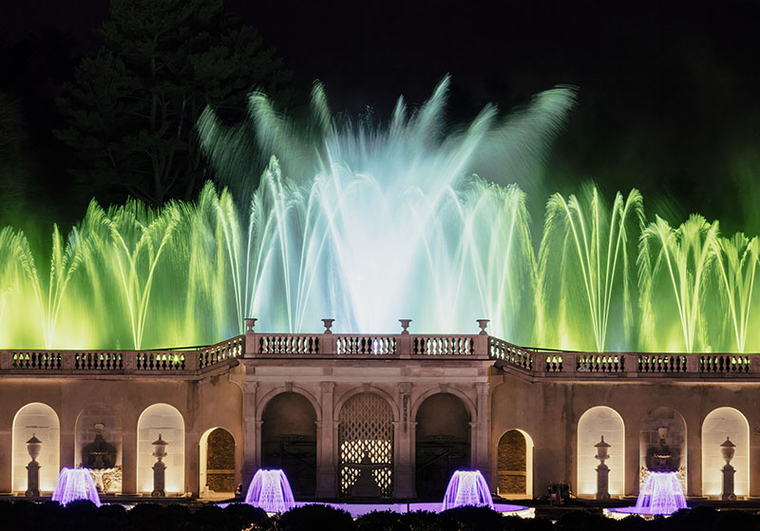 Fountain and Light Display at Longwood Gardens