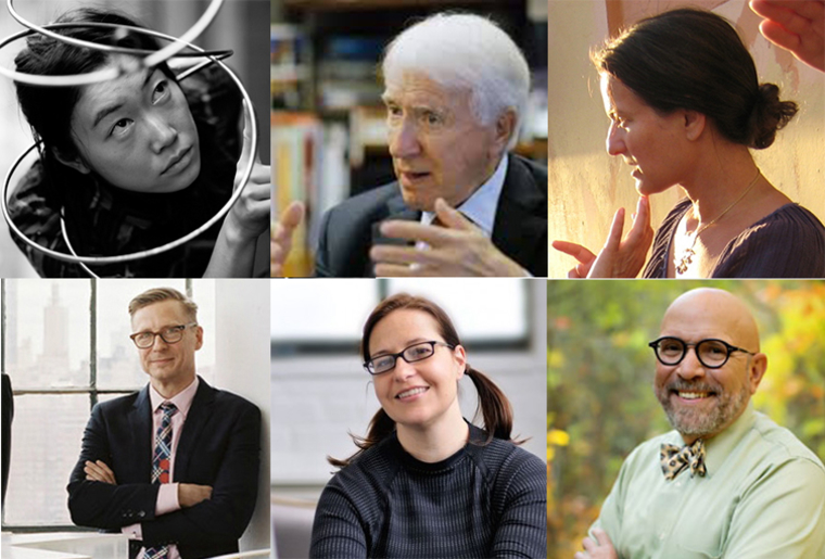 Profile photos of the six Spring 2017 Lecturers