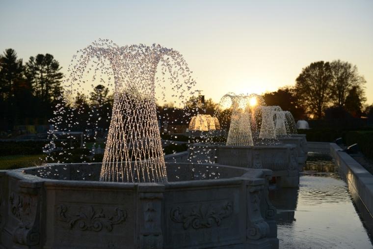 Enhanced Fountain Display at the Main Fountain Garden, Longwood Gardens
