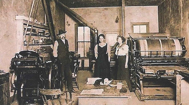 Archival Photograph of the Mancos Common Press