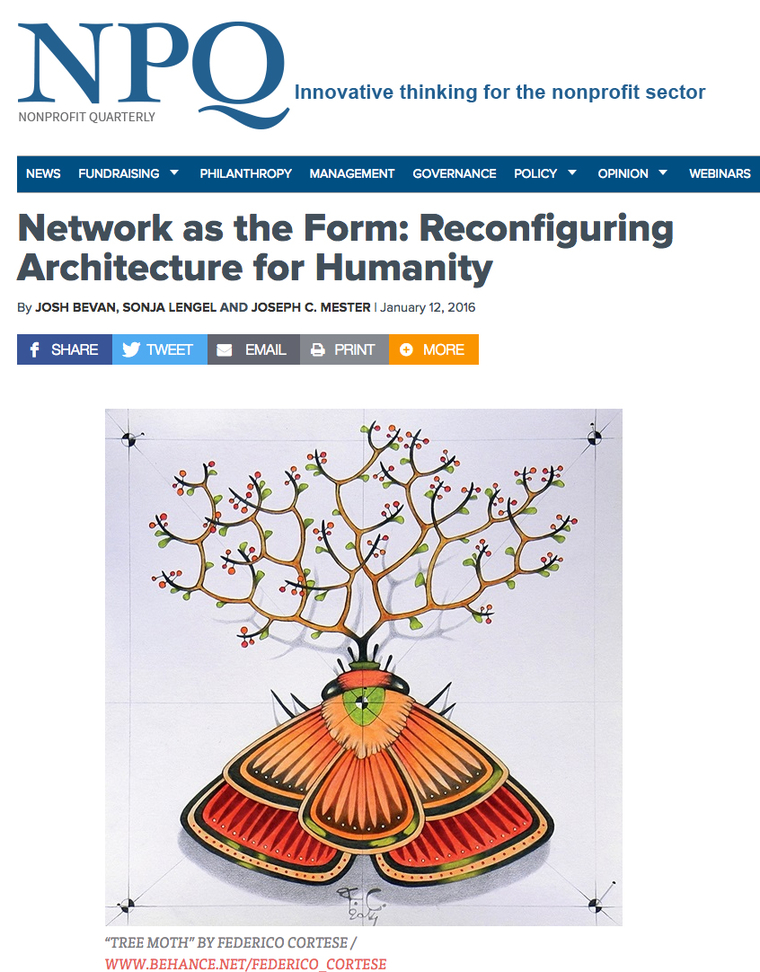 Network as the form: Reconfiguring Architecture for Humanity