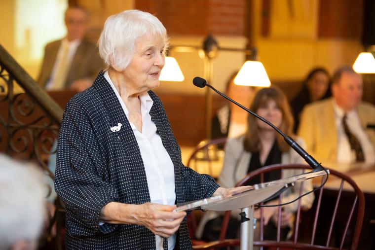 Denise Scott Brown speaking at Robert Venturi Memorial