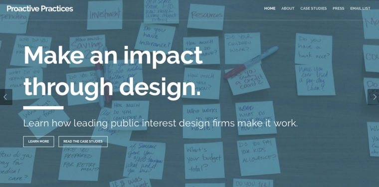 Make and impact through design. Learn how leading public interest design firms make it work.