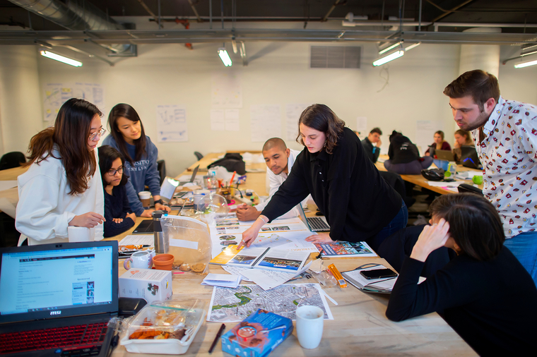 Planning students at the 3401 Walnut Street studio