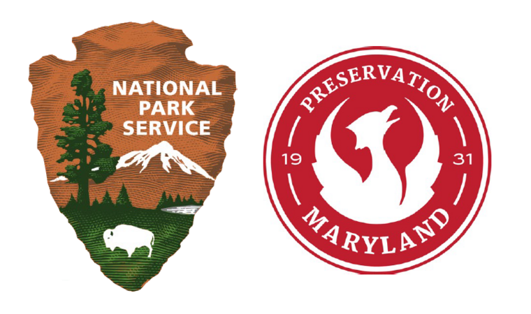 The National Park Service and  Preservation Maryland logos