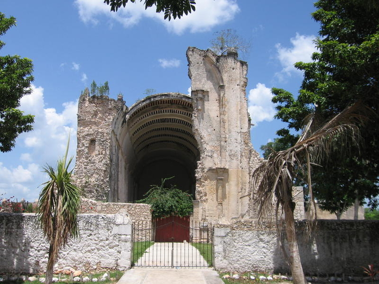 Ruins of Tihosuco Church.