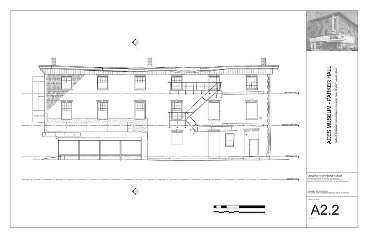 Blueprint of building in Germantown