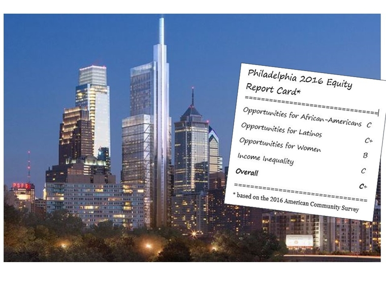 Philadelphia as seen in the 2016 Metropolitan Equity Report Card