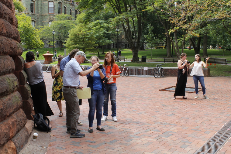 Group gathered on Penn campus