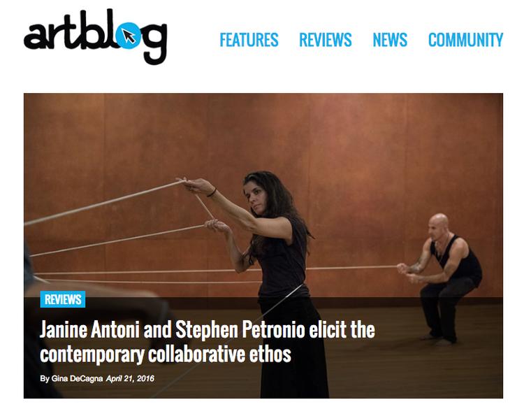 Janine Antoni And Stephen Petronio elicit the contemporary collaborative ethos.