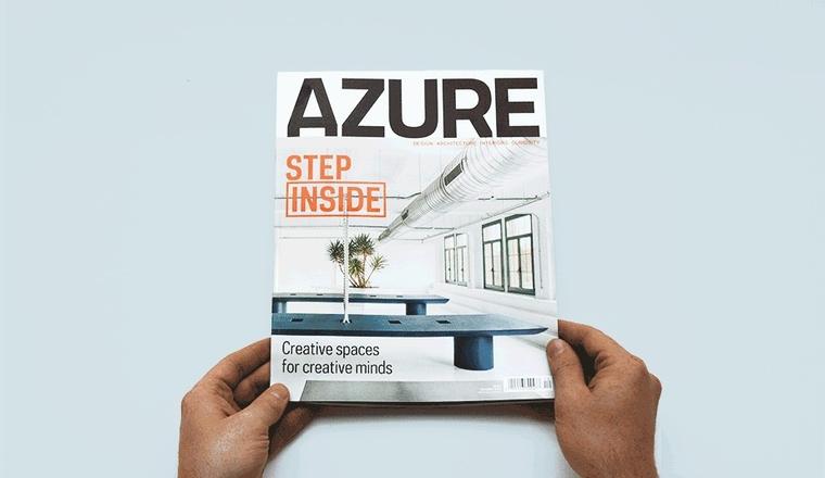 Cover of AZURE magazine