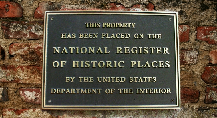A National Register of Historic Places Plaque