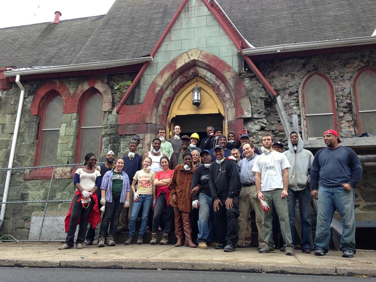 Volunteers pose for a group shot. Photo from 19th St. Baptist Church.