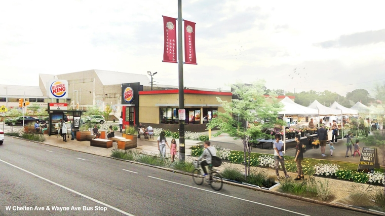 Rendering of Burger King venue