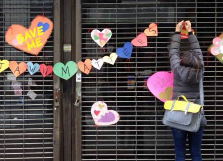 Chain of paper hearts