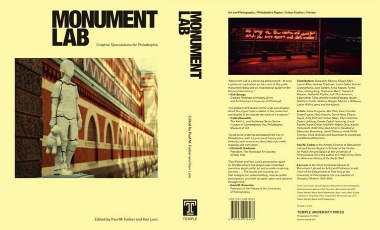 'Monument Lab' book cover showing public sculpture