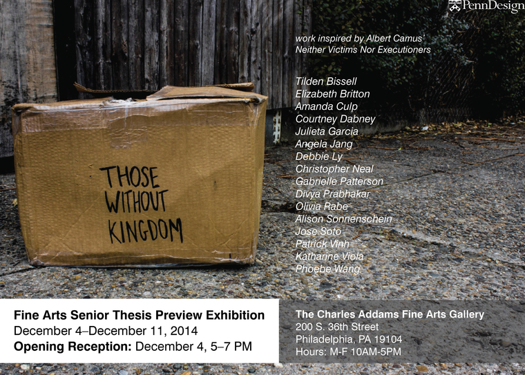 "Poster for ""Those without a kingdom"" exhibition"