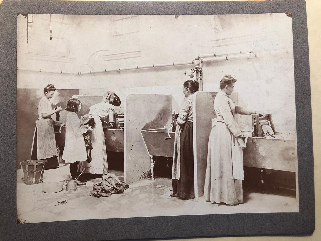 Women working at machines