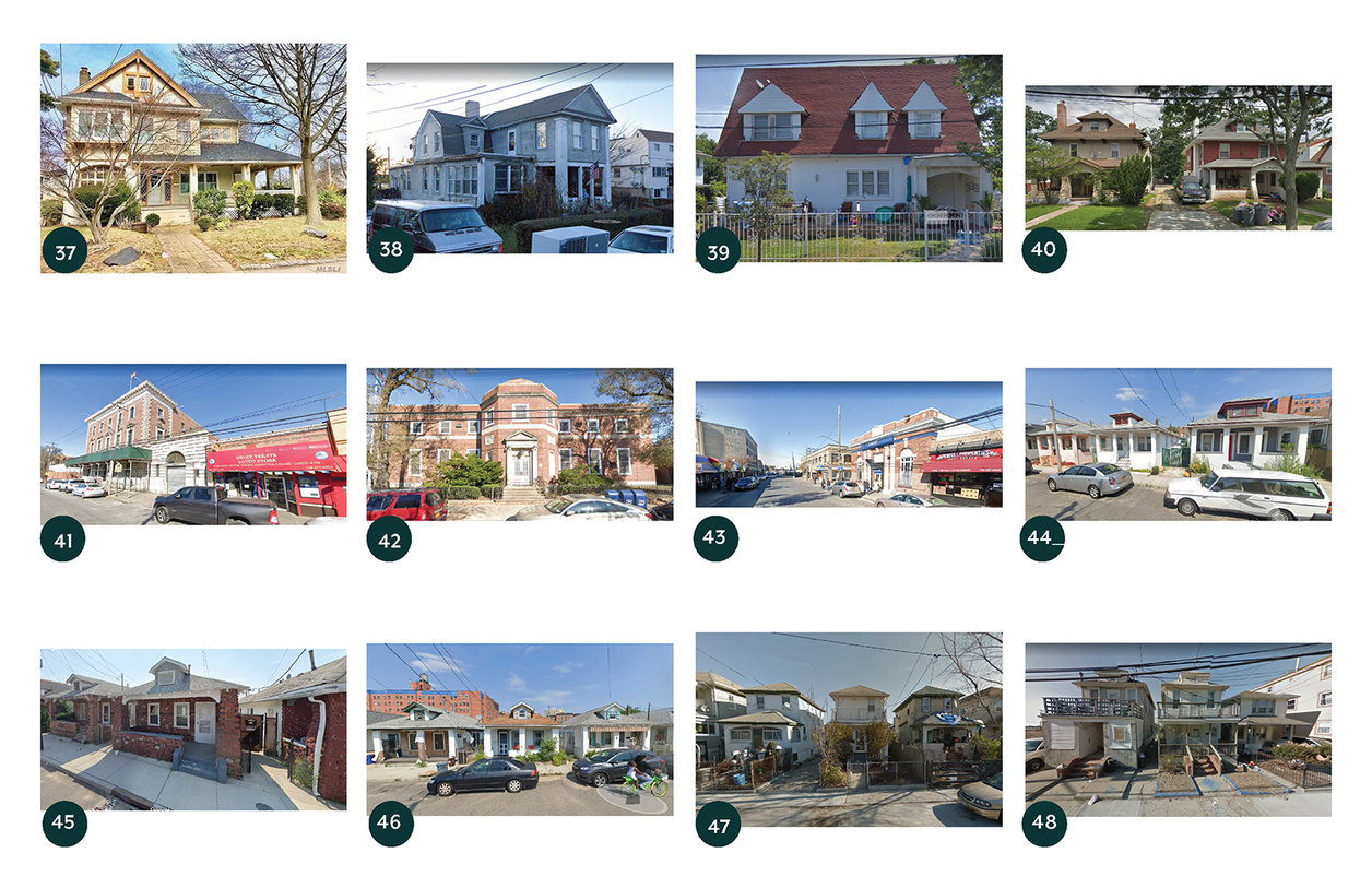 Grid of photos showing different housing types