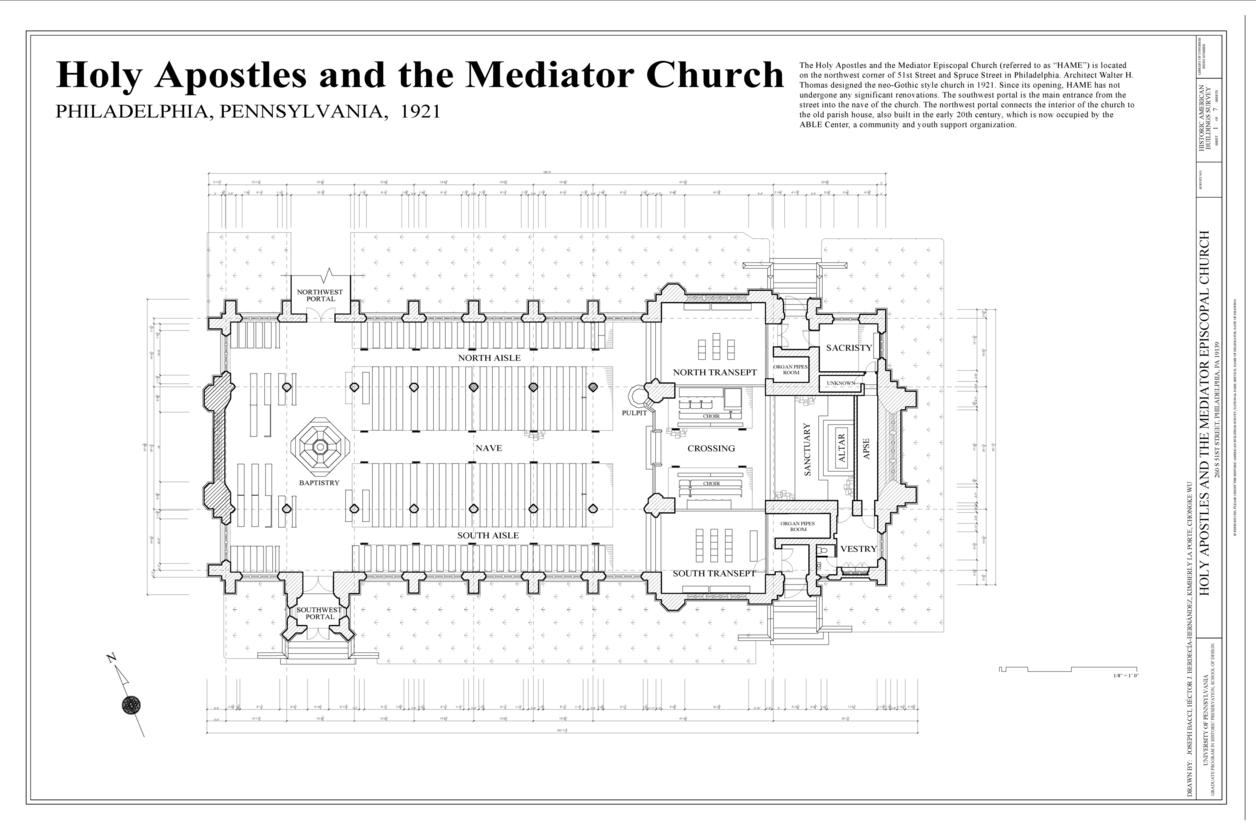 Floorplan of a church
