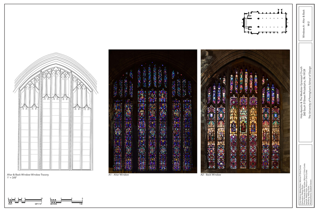 Document showing windows in a church