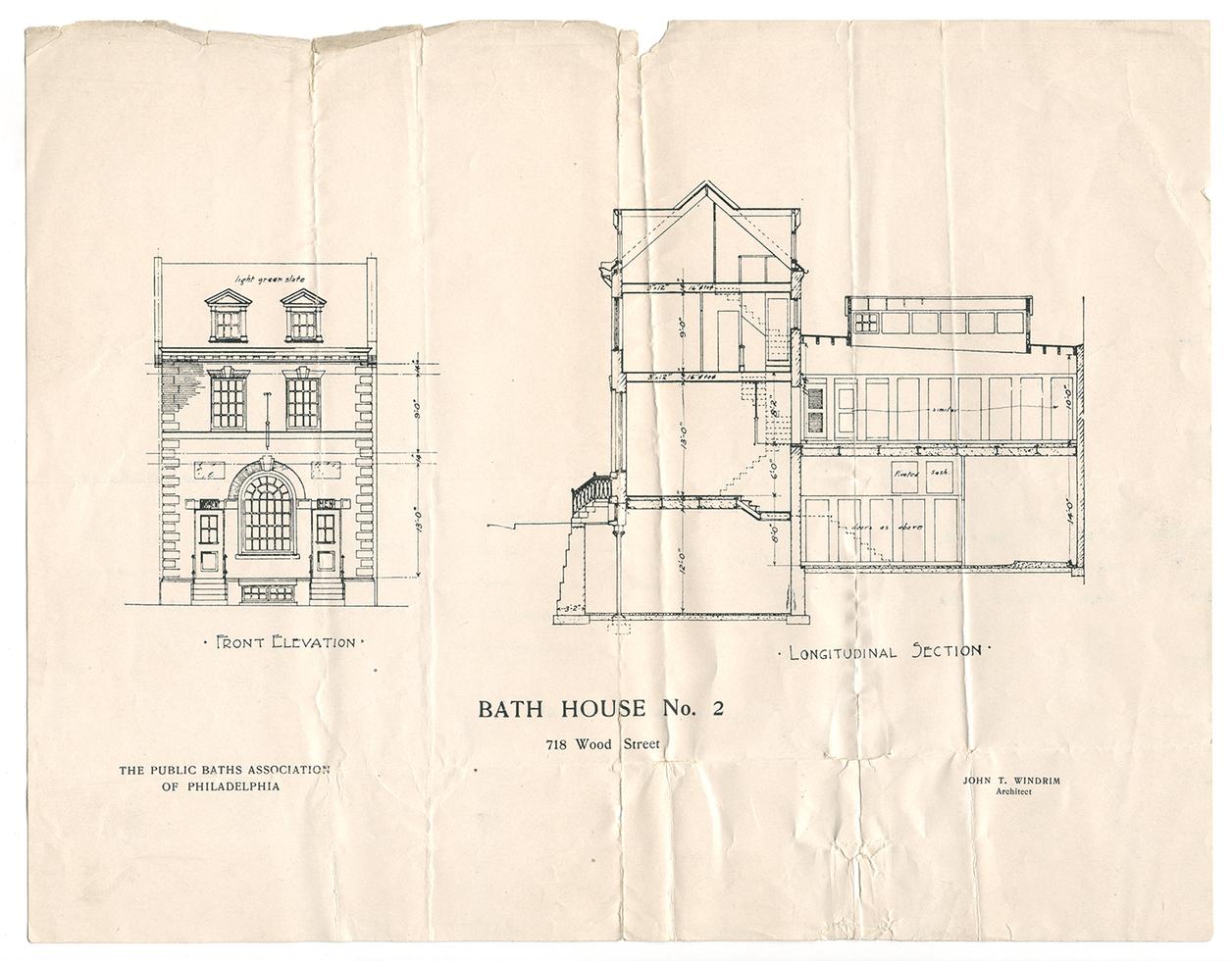 Blue print of Bath House