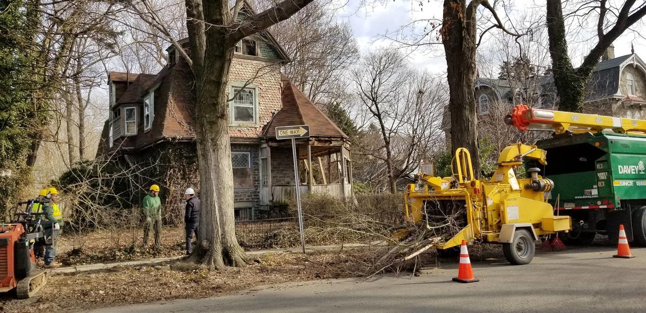 Rehabilitation work underway for 5005 McKean Avenue, Philadelphia. (Source: Scioli Turco)